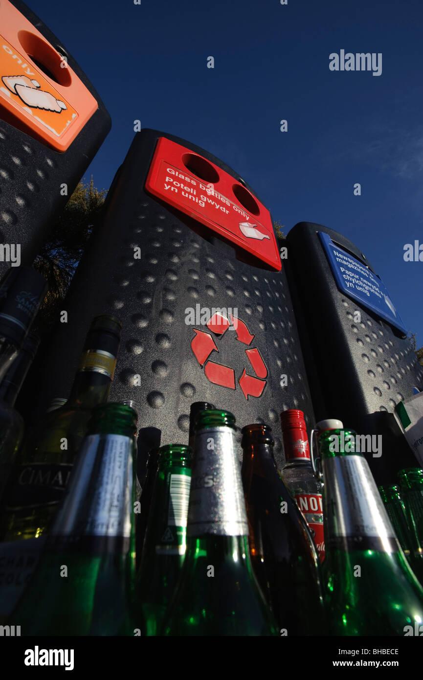 bottle bank - Stock Image
