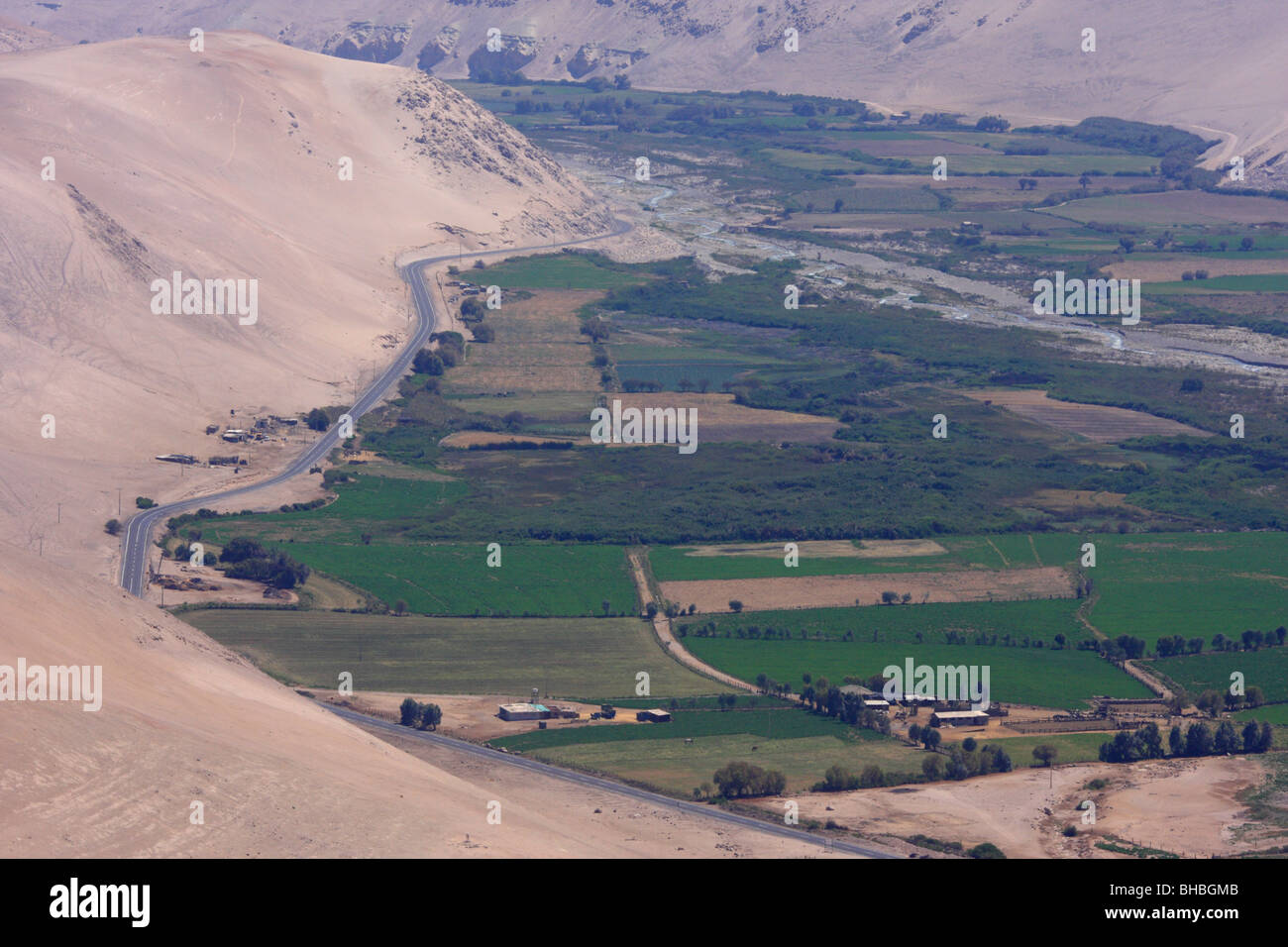 Countryside in the vicinity of Arica in Chile - Stock Image