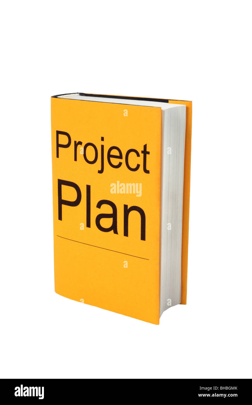 Book with words Project Plan. - Stock Image