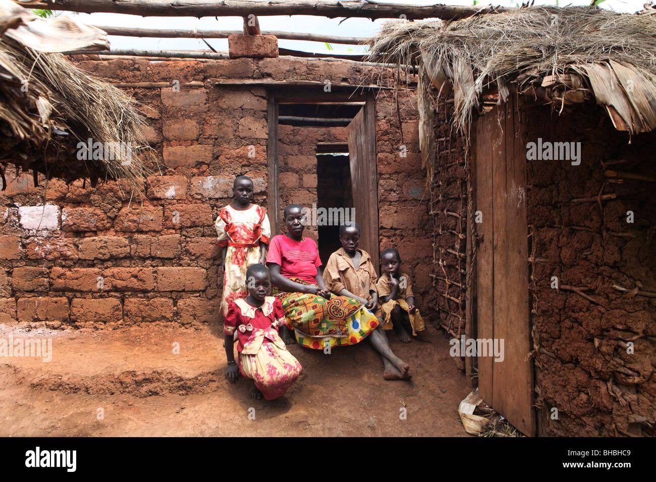 Africa african africans building building material burundi civil war conflict depressed depressing displaced displaced Stock Photo