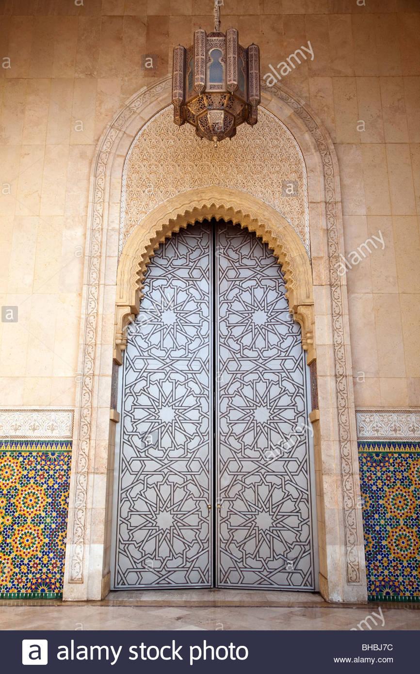 Africa african Casablanca Corniche door doors exterior Hassan II Mosque islam Michel Pinseau moroccan Morocco muslim & Africa african Casablanca Corniche door doors exterior Hassan II ...