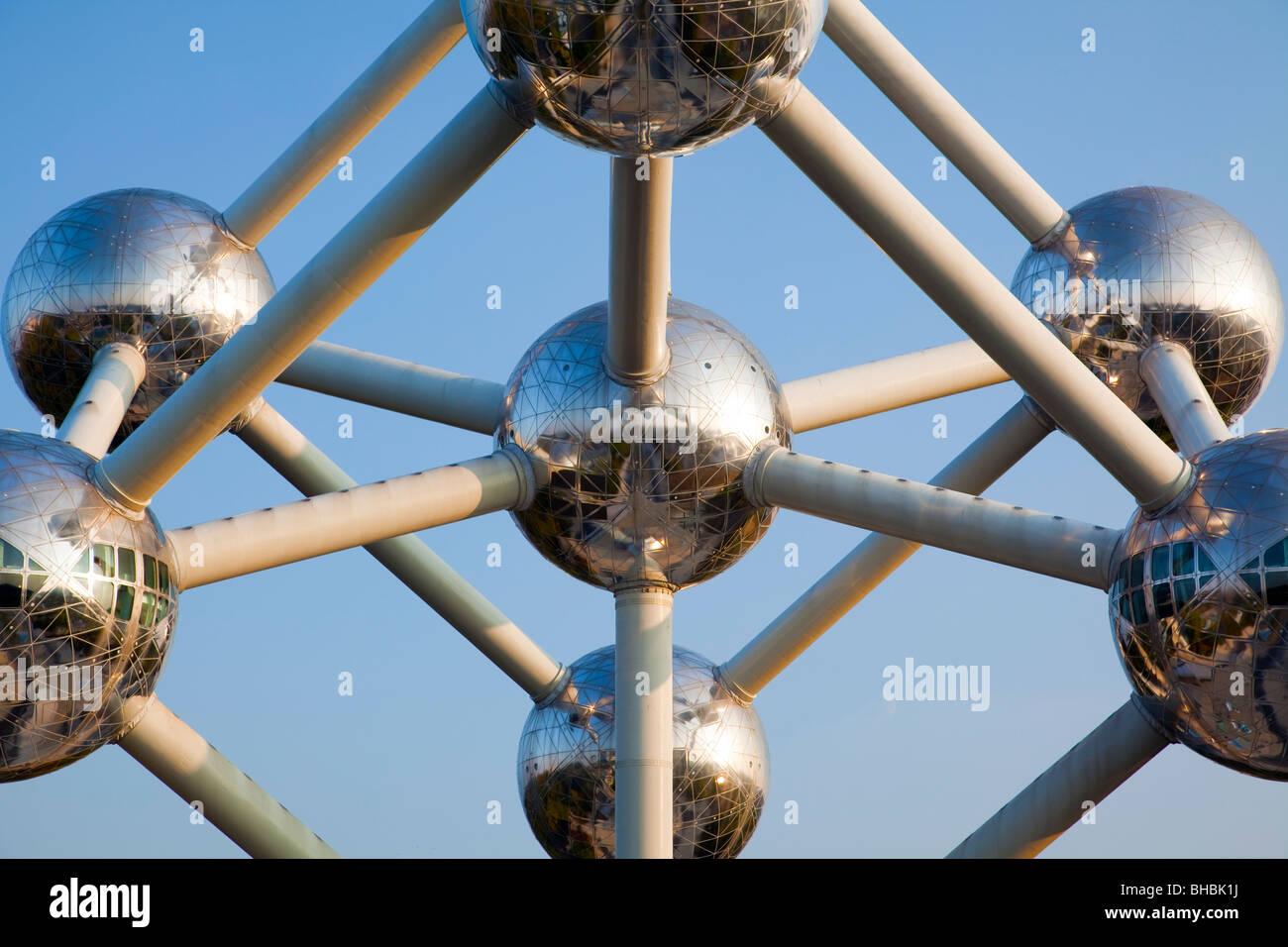 'The Atomium' Brussels Belgium - Stock Image