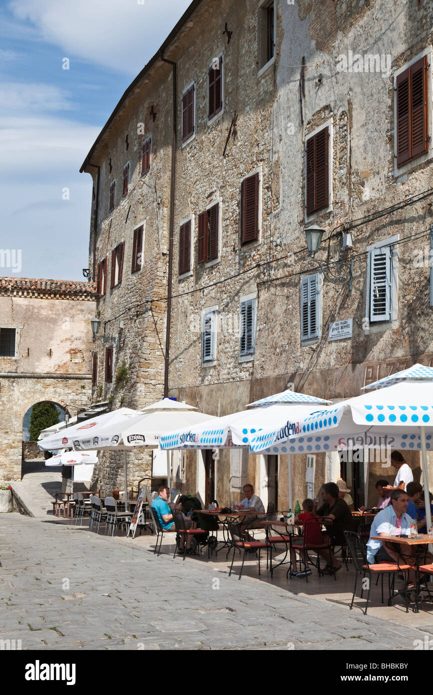 Cafe culture in Motovun Istria Croatia Stock Photo