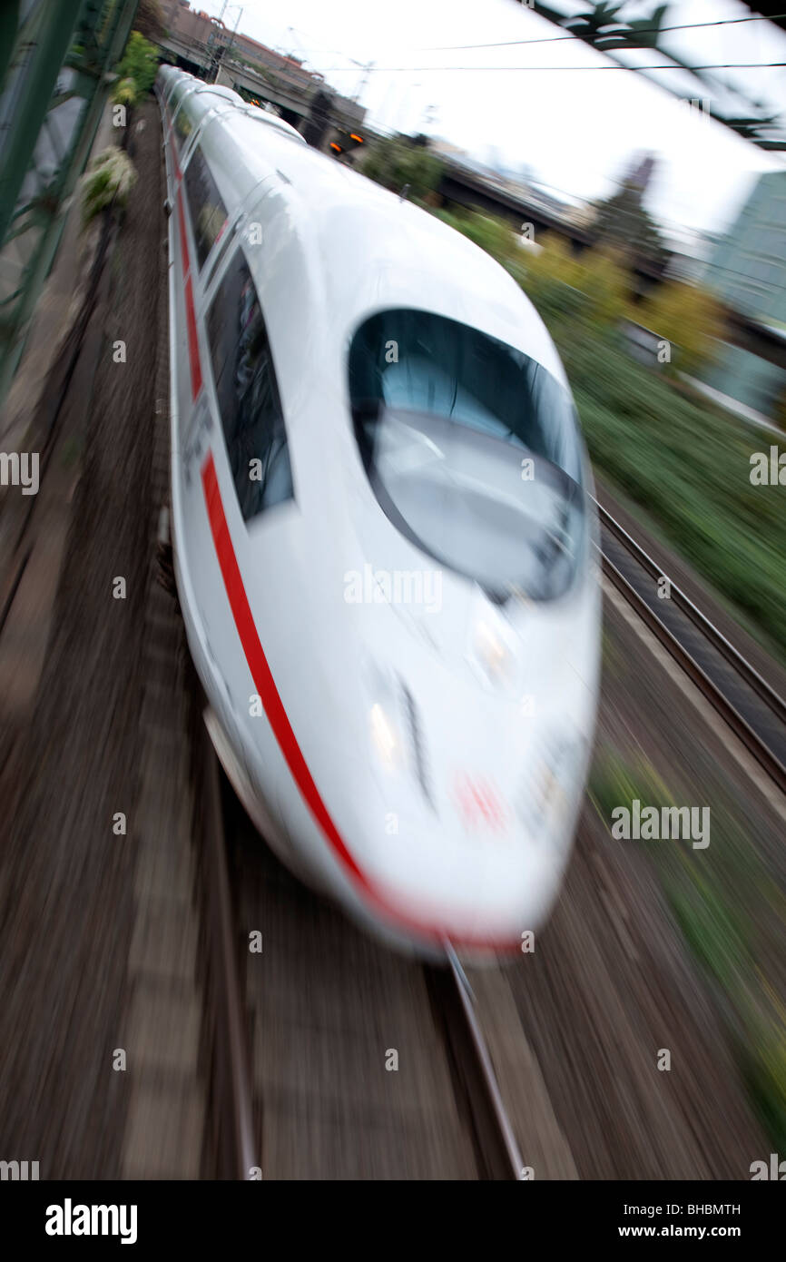 High speed Fast Train, Germany, Europe - Stock Image