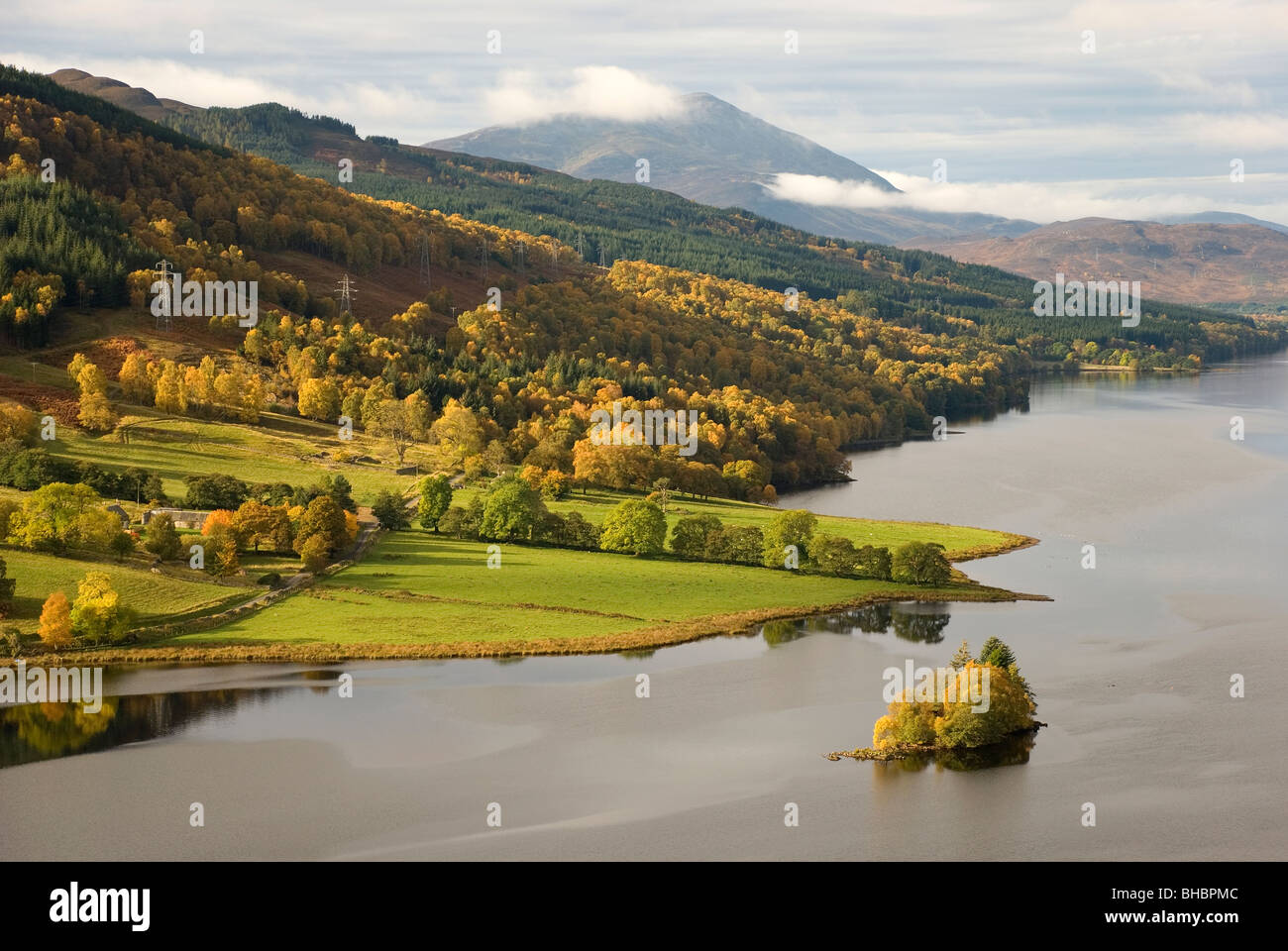 Autumn at Loch Tummel, Perthshire, Scotland - Stock Image