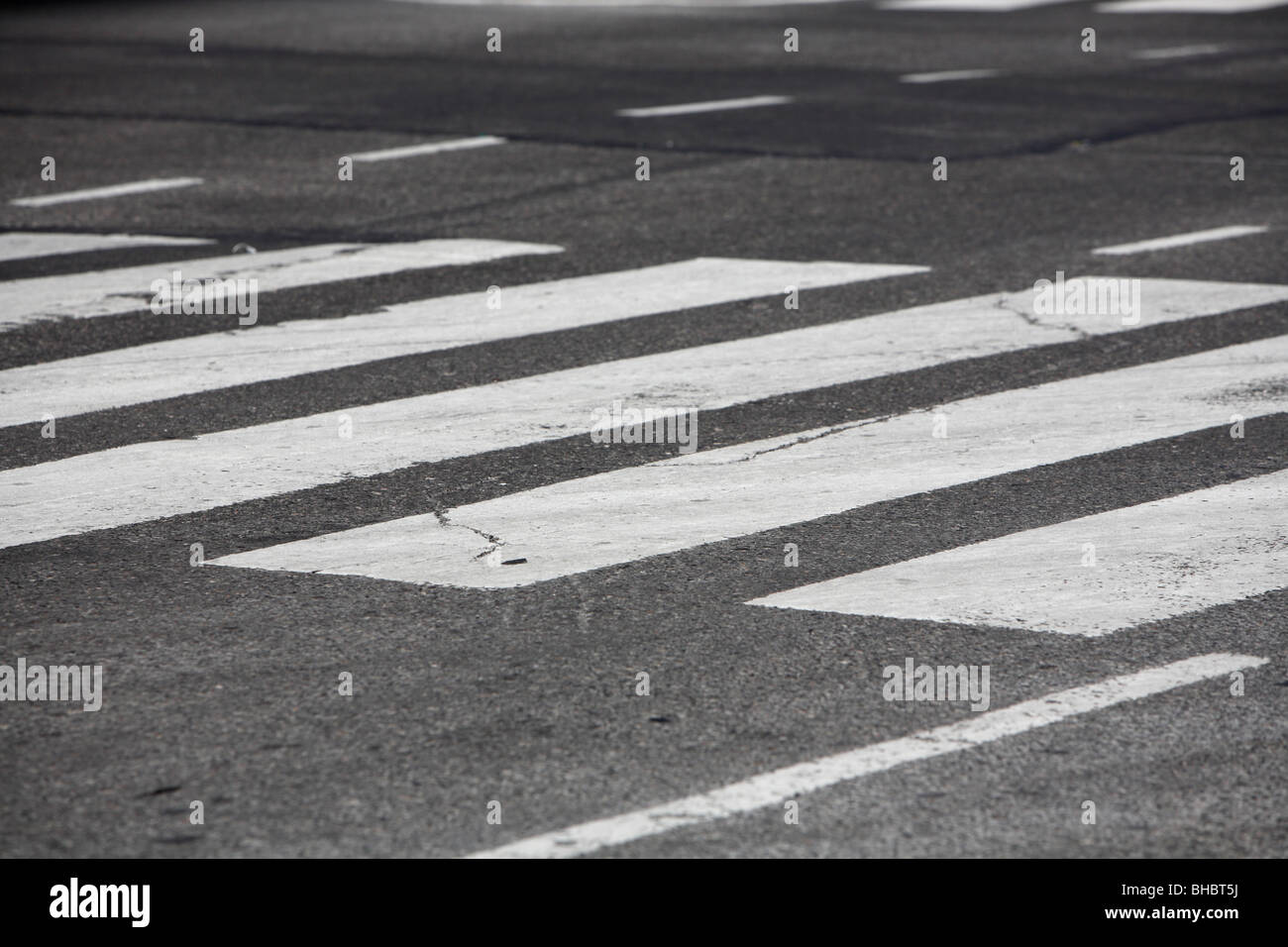 crosswalk in New York City - Stock Image