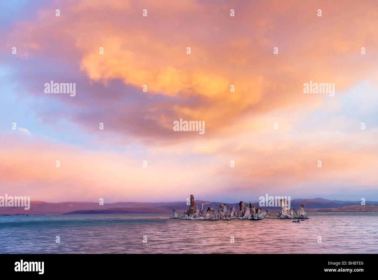 Sunrise over Mono Lake. California - Stock Image