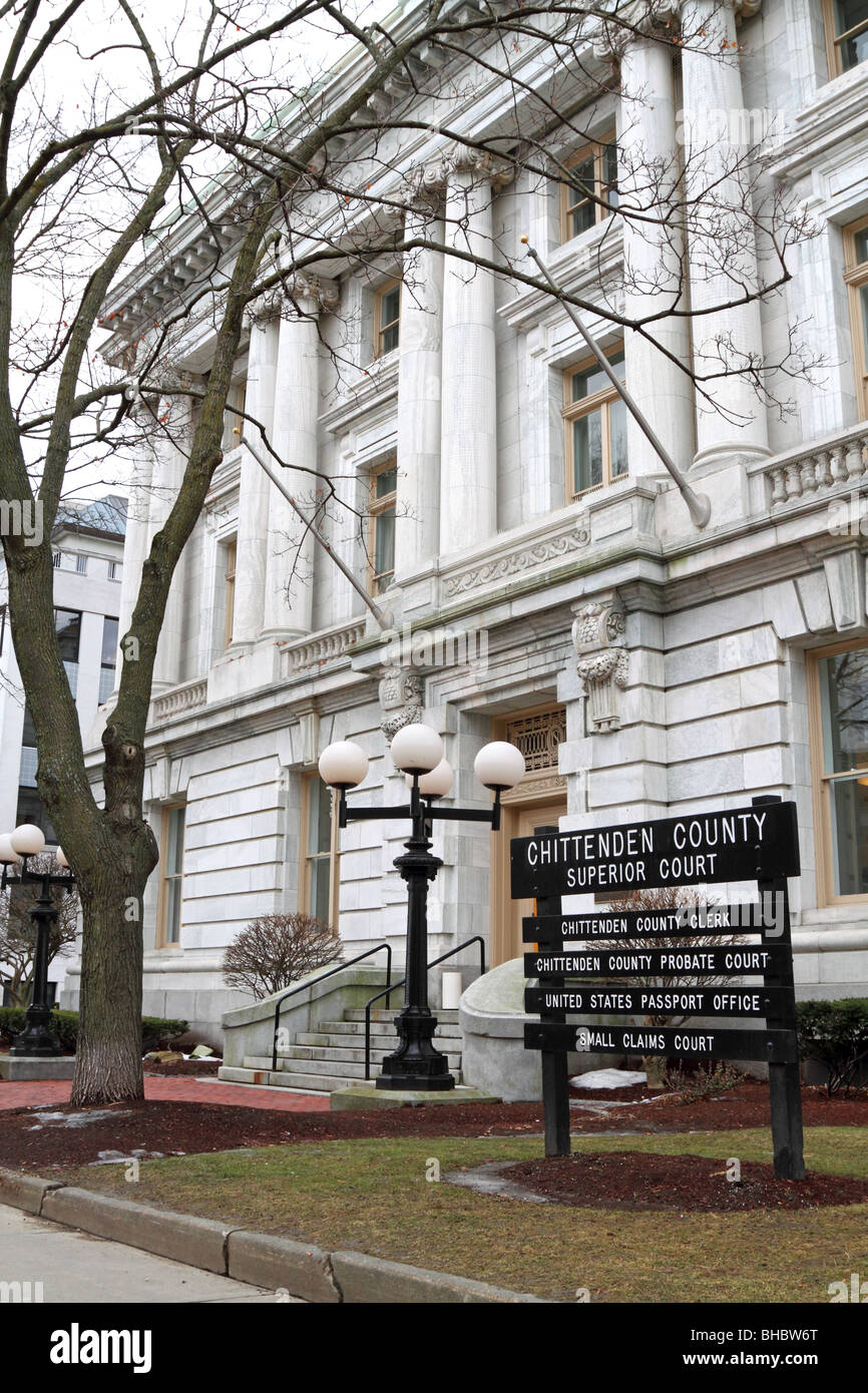Chittenden County Superior Court House in Burlington, Vermont. - Stock Image