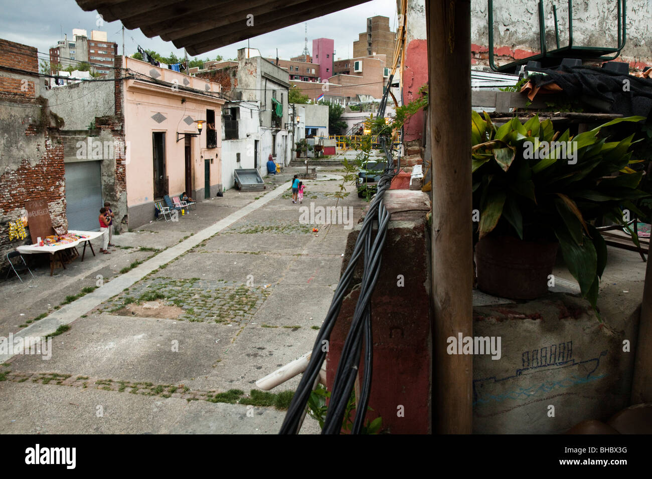 e33cf3c74c5a1 View of Calle Curuguaty in a traditional black neighborhood (Barrio Sur) of  Montevideo