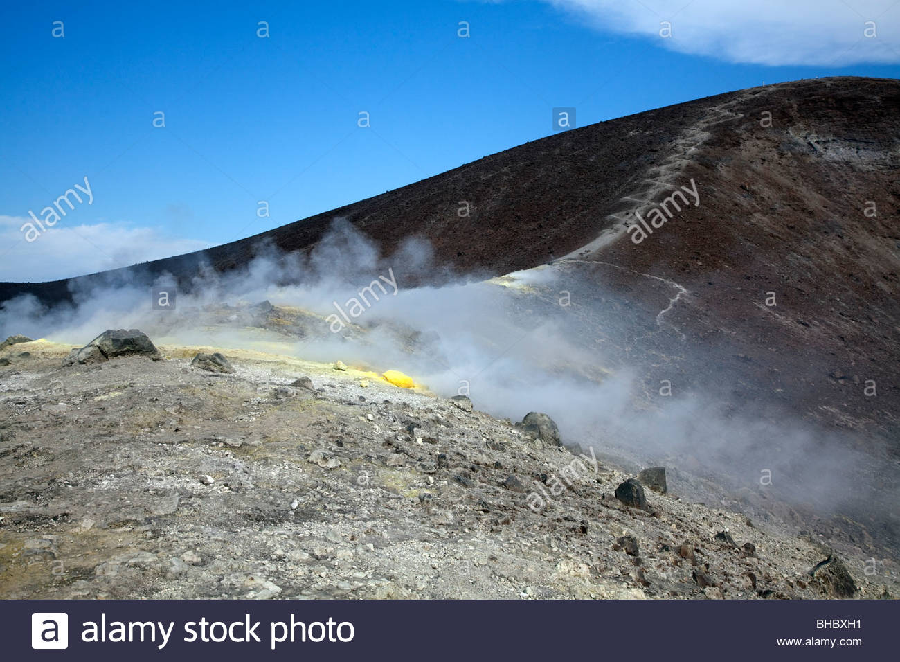 Vulcano, one of the Aeolian Islands of Italy - Stock Image