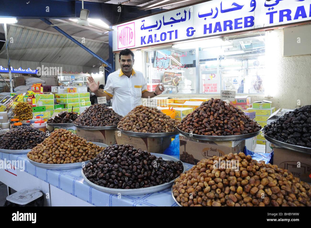 Dates Salesman in Dubai, United Arab Emirates - Stock Image