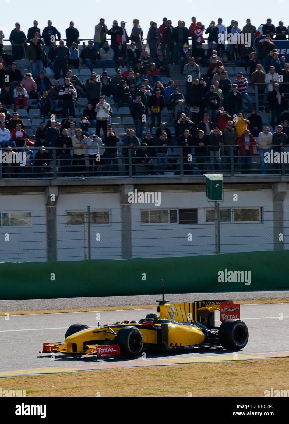Robert KUBICA (POL) driving the Renault R30 Formula One racing car in February 2010 - Stock Image