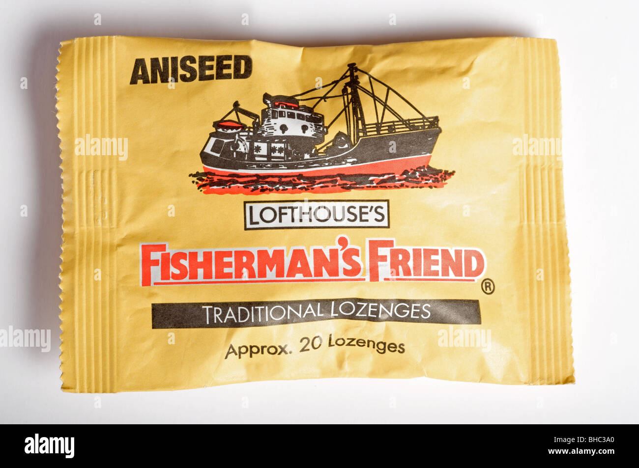 Packet of Lofthouse's Fisherman's Friend lozenges - Stock Image