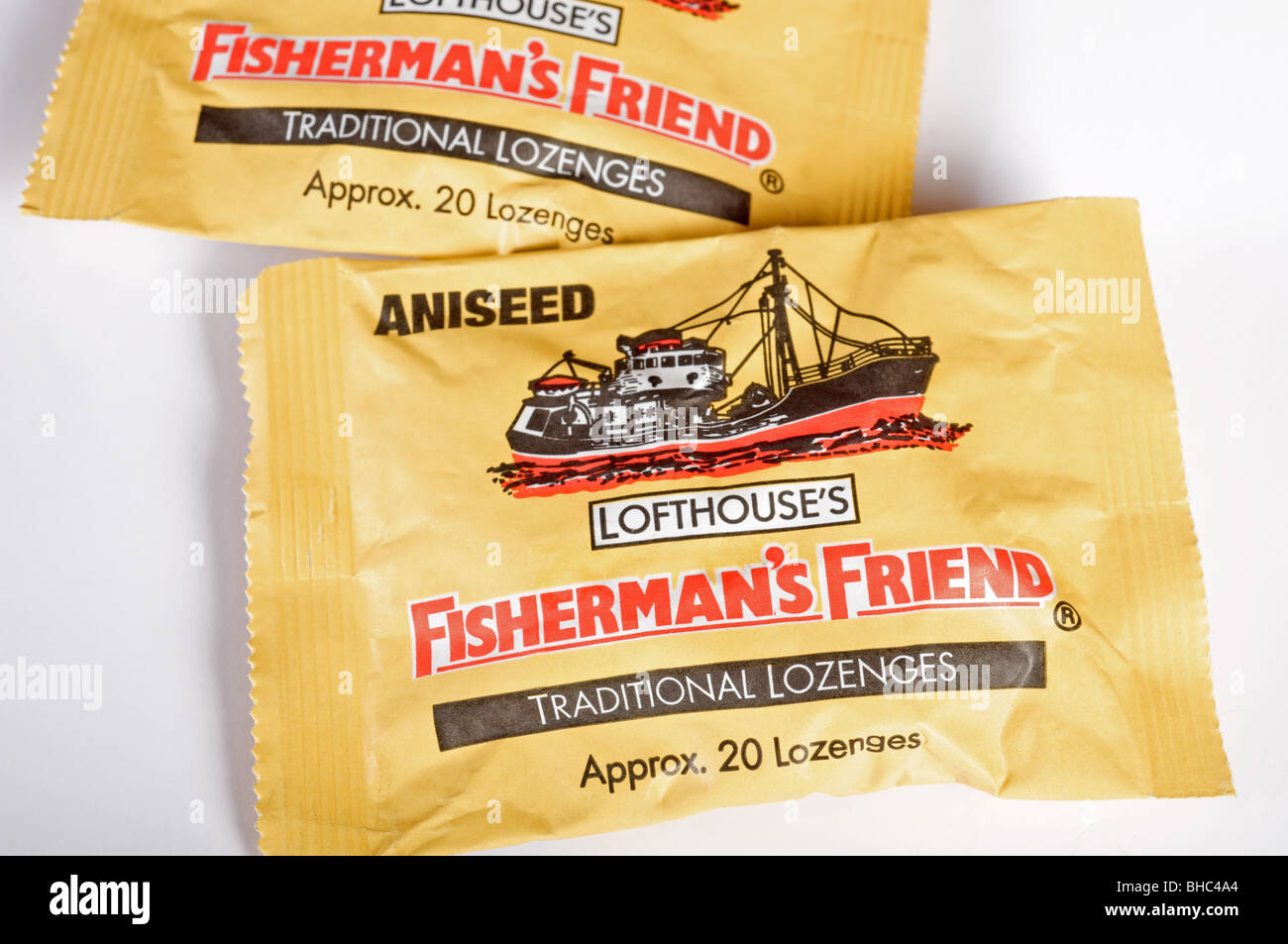 Packets of Lofthouse's Fisherman's Friend lozenges - Stock Image