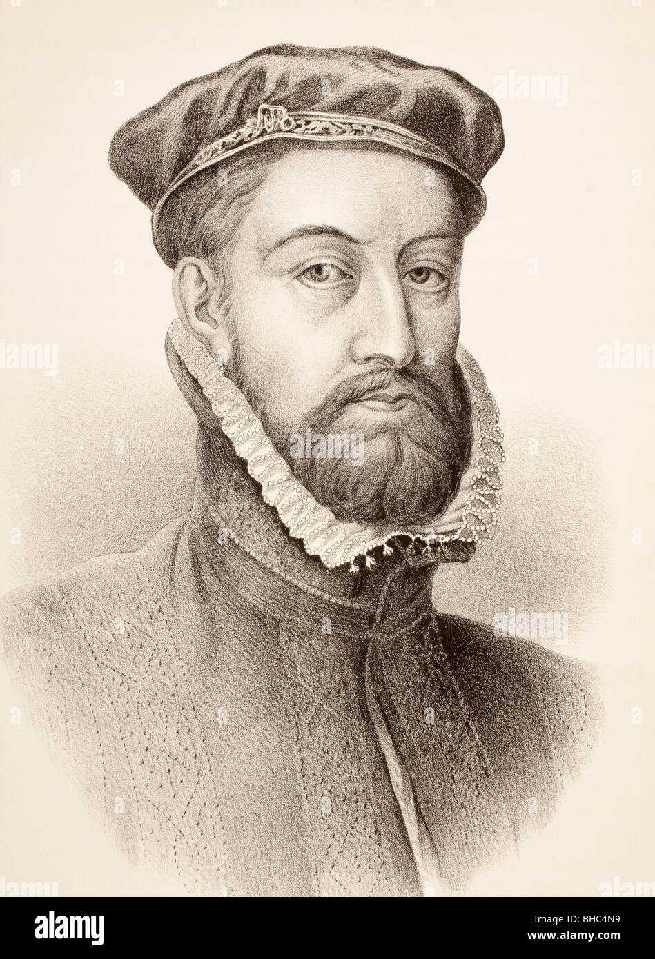 James Stewart, 1st Earl of Moray c. 1531 – 1570. Regent of Scotland. - Stock Image