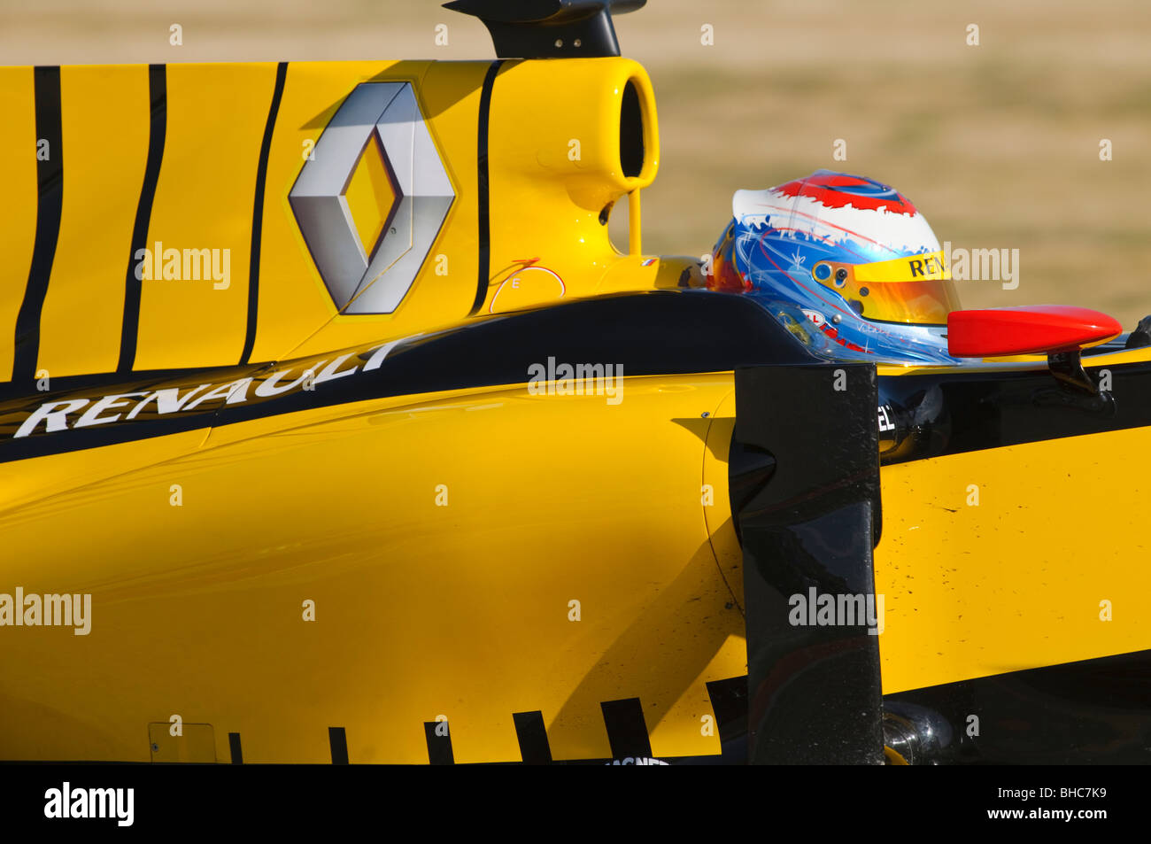 Vitaly PETROV driving the Renault R30 Formula 1 race car in February  2010 - Stock Image