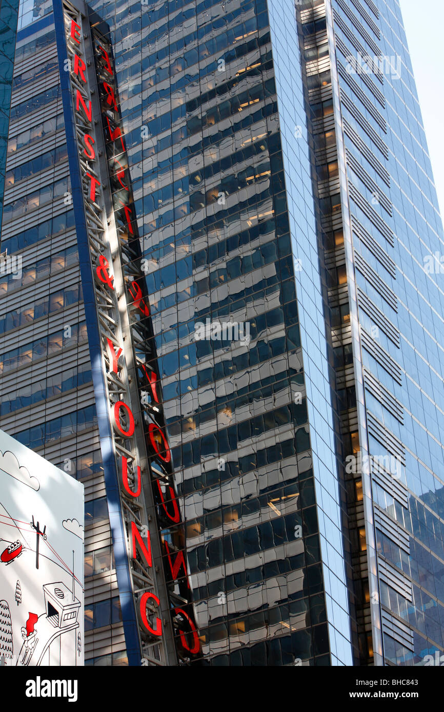 Ernst & Young headquarters in Times Square New York - Stock Image