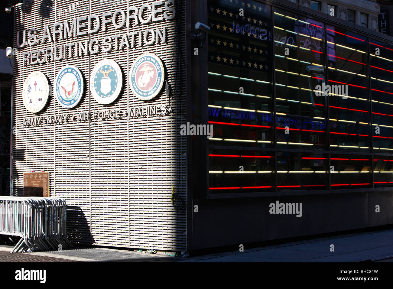 US Armed forces recruiting station in Times Square New York - Stock Image