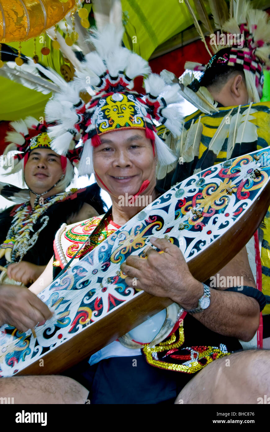 Paris, France, Public Events, Tropical Carnival Parade, Colorful Participants, Indonesian Traditional Musicians - Stock Image
