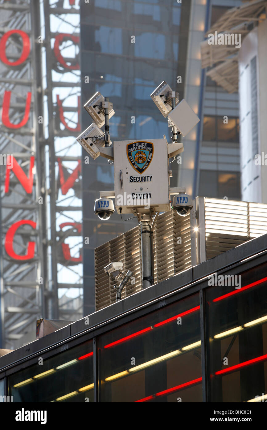 security cameras in Times Square New York - Stock Image