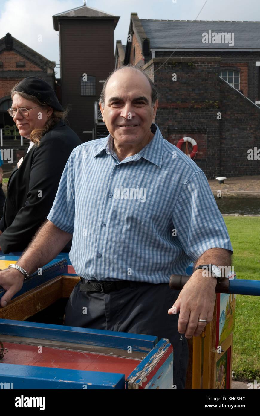 Hercule Poirot David Suchet Actor - Stock Image