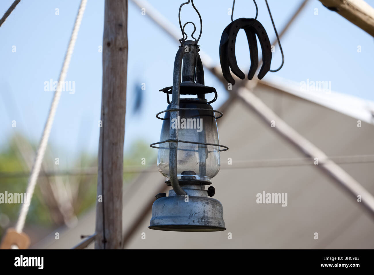 Western oil lamp - Stock Image