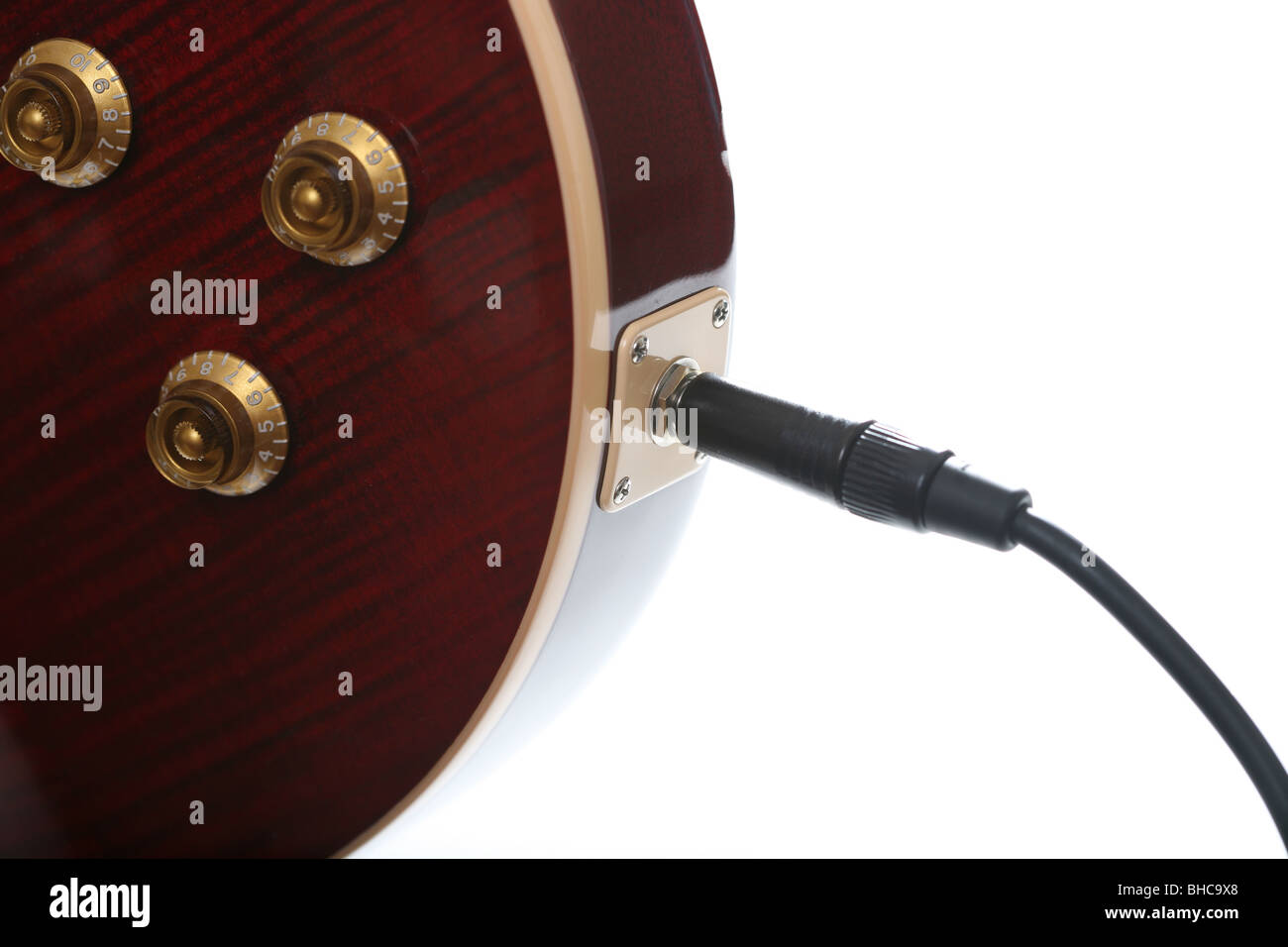 Gibson Les Paul Stock Photos Images Alamy 4 Conductor With Wiring Diagram 1 Jackplug Plugged Into A Jack Socket Of Guitar