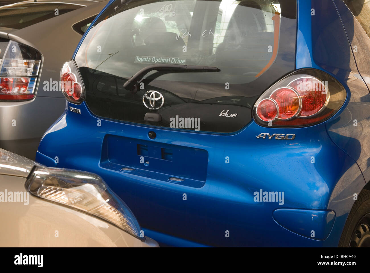 Toyota Aygo cars unsold. No number plates London UK . Worldwide ...