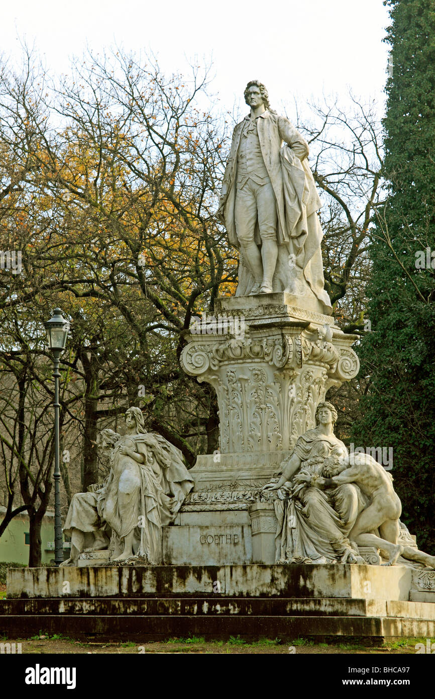 Goethe's monument in Villa Borghese, Rome. - Stock Image