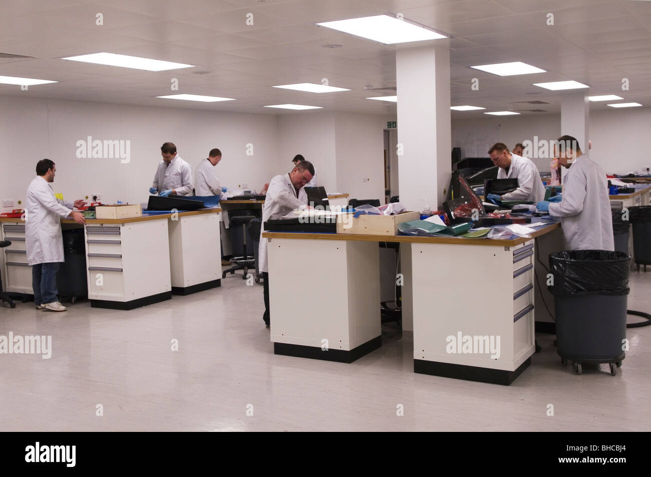Carbon Fibre Lay-On room 'Ross Brawn Engineering' now owned by Mercedes. Brackley Northants UK HOMER SYKES - Stock Image