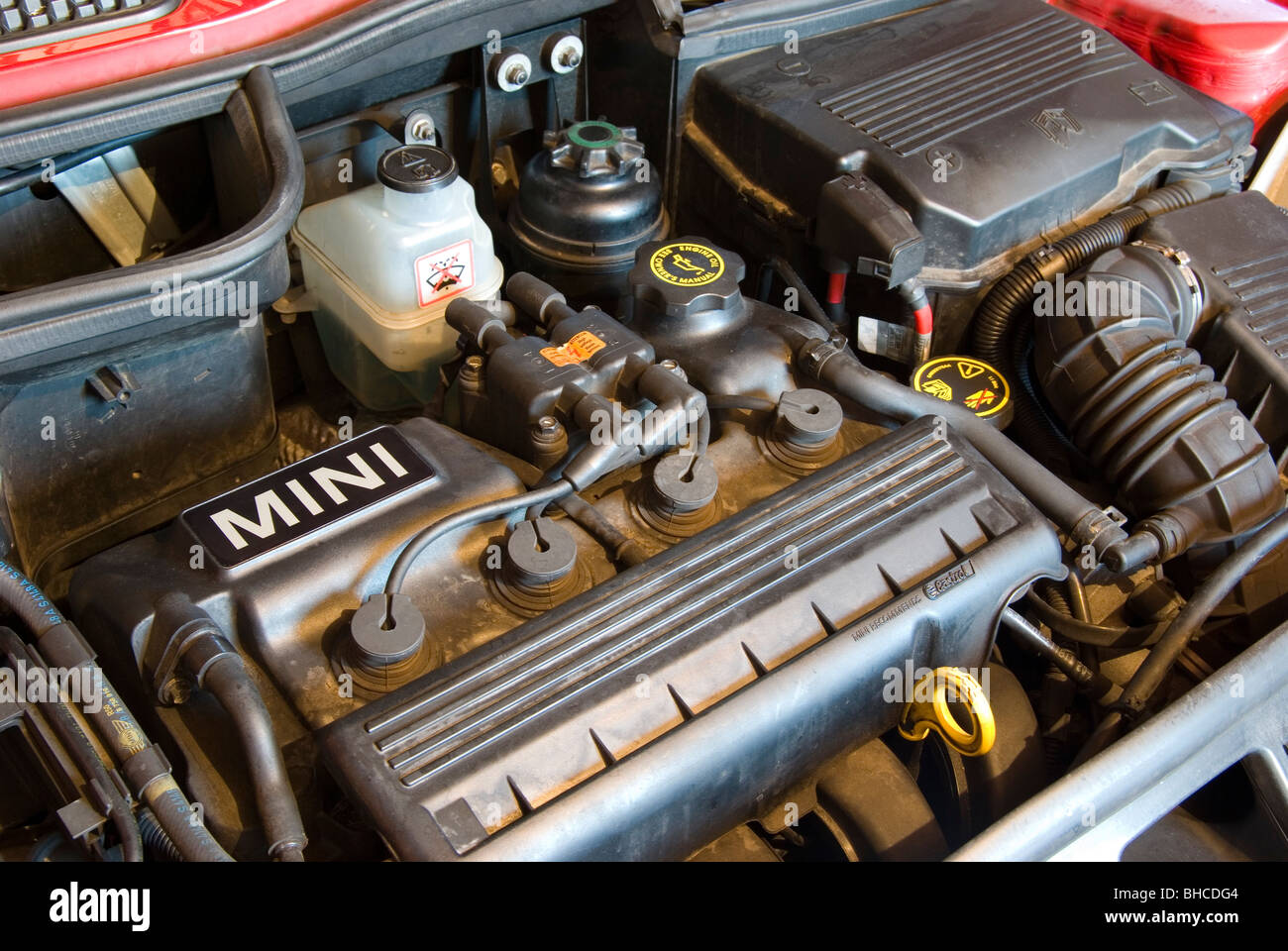 View In Engine Compartment Stock Photos Mini Cooper Fuse Box Close Up Of The A Image