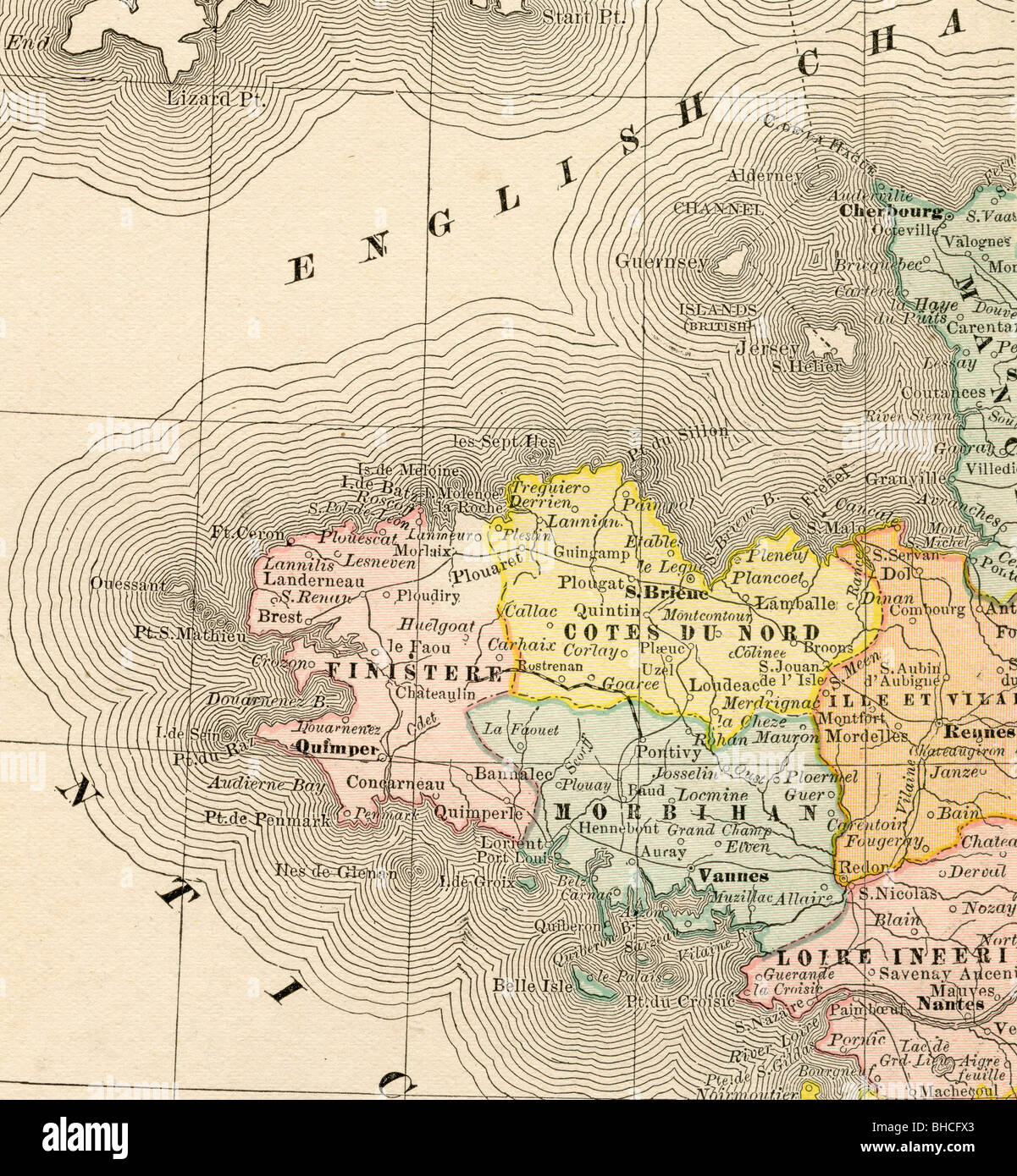 Map Of Brittany Stock Photos Map Of Brittany Stock Images Alamy