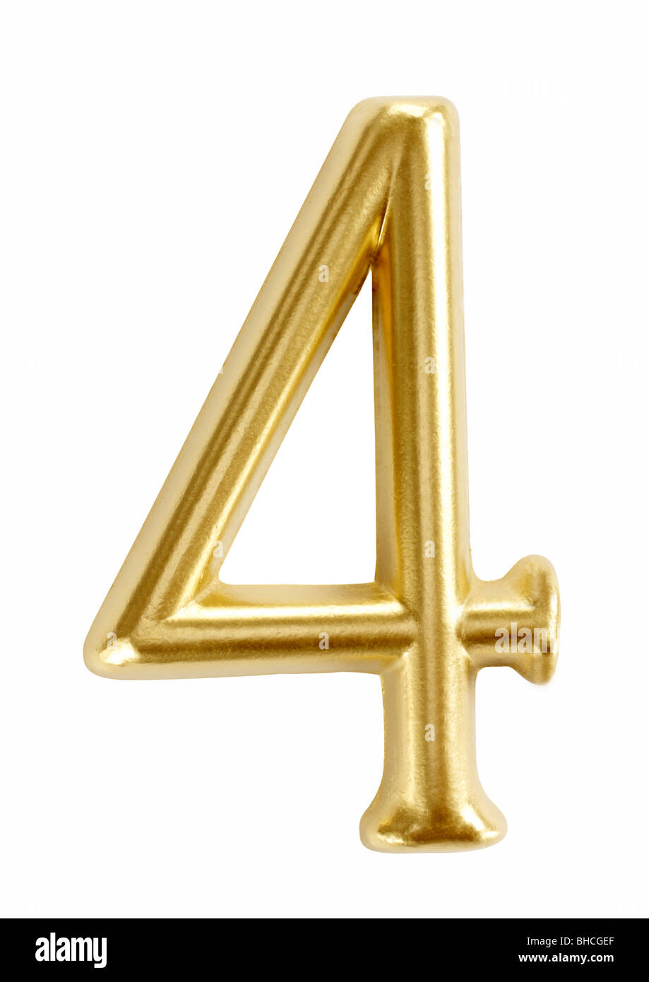 number numbers four 4 symbol figure digit - Stock Image