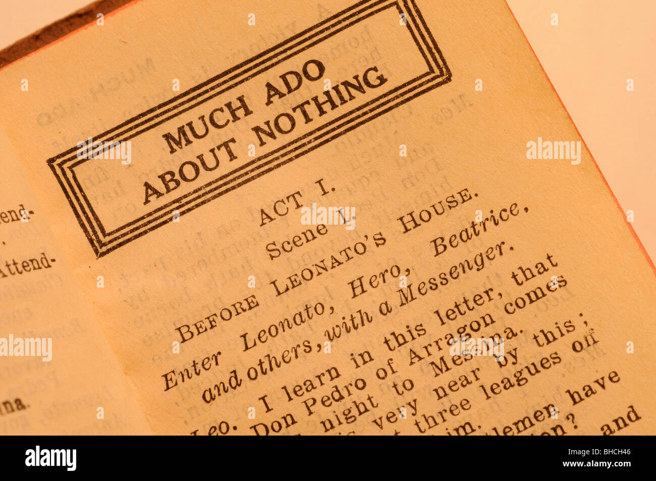 english much ado about nothing Much ado about nothing is one of the most famous comedies written by a genius english playwright william shakespeare benedick, big bachelor and lady killer, can't.