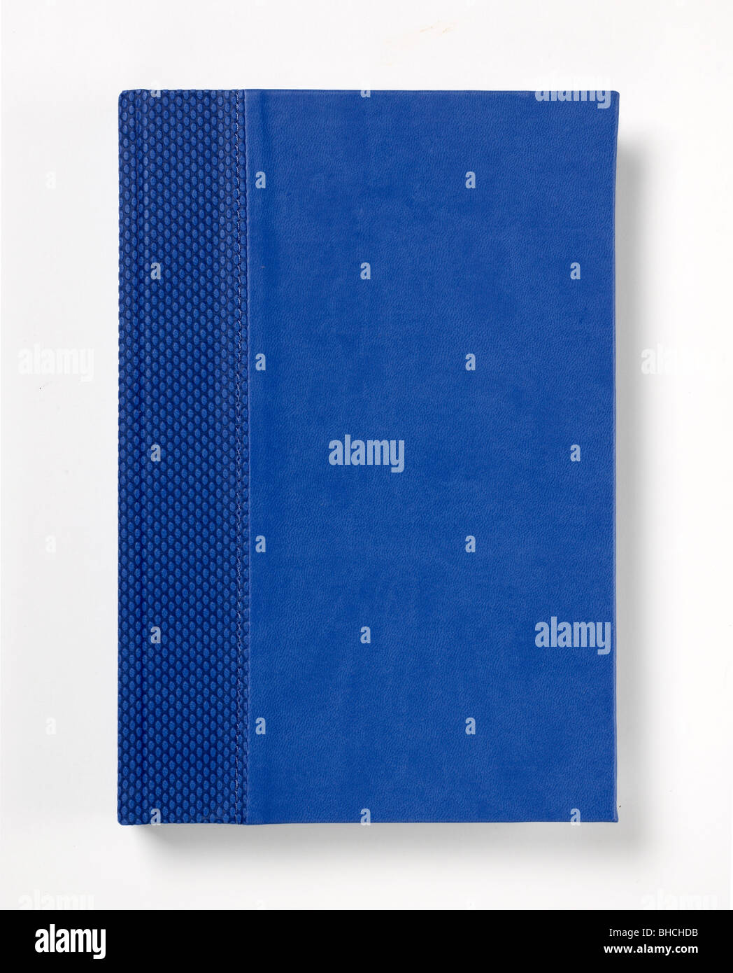 Blue hard cover book journal - Stock Image