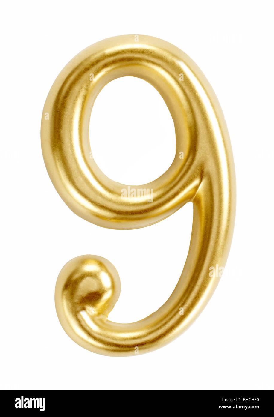 number numbers nine 9 symbol figure digit - Stock Image