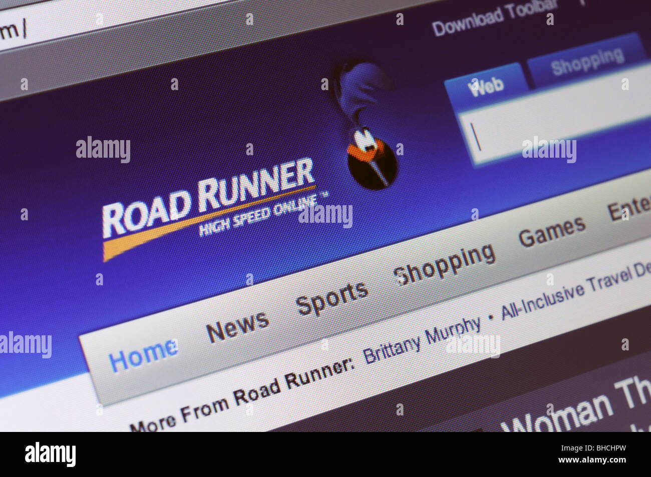 RoadRunner internet and cable TV provider website - Stock Image