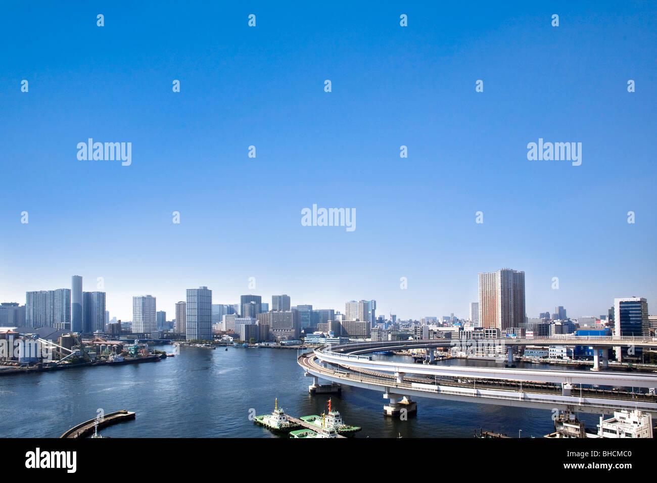 Skyline of Tokyo Minato Ward Japan Stock Photo