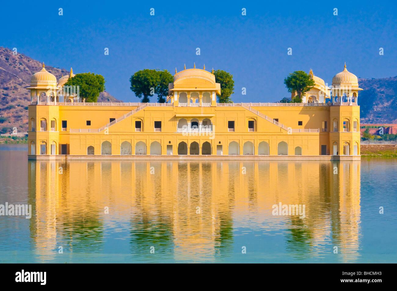 The Jai Mahal - Lake Palace, Jaipur, Rajasthan, India - Stock Image