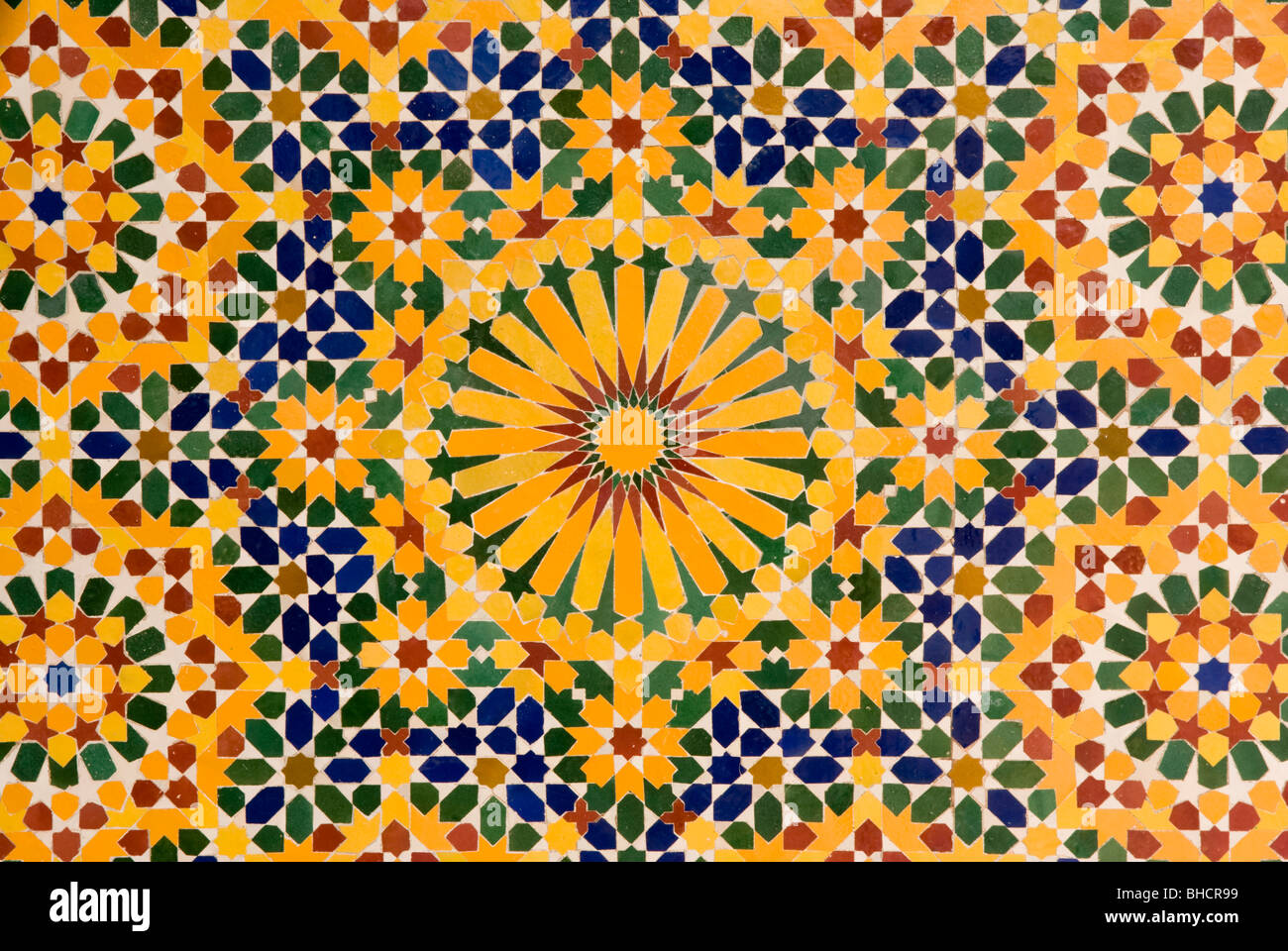 Close up of mosaic tile patterns, Hassan II Mosque, Casablanca Stock ...