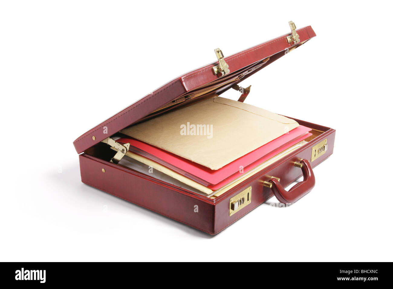 File Folders in Briefcase - Stock Image