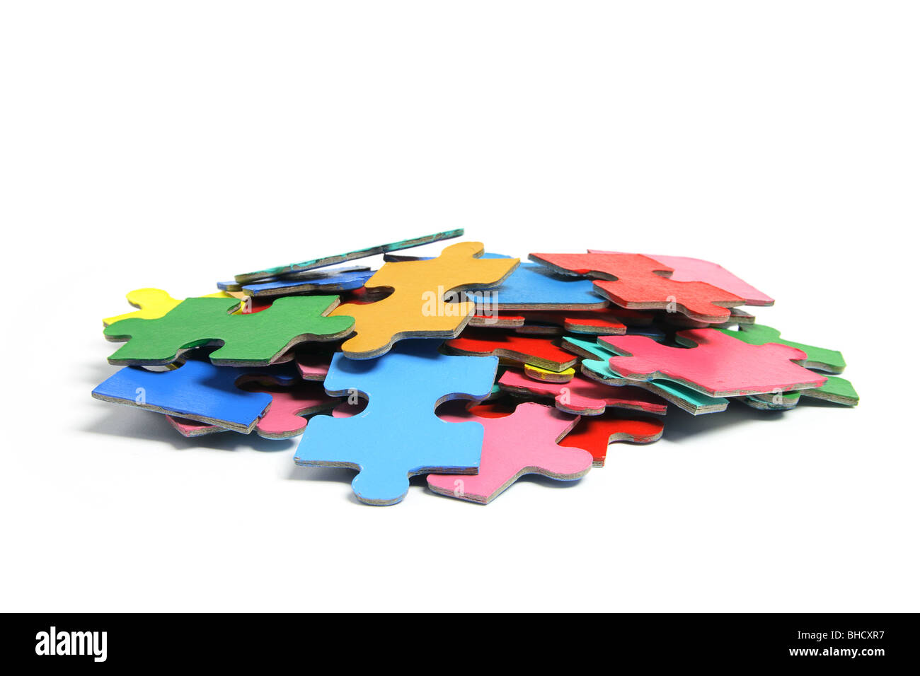 Pile Jigsaw Puzzle Pieces Cut Out Stock Images Pictures