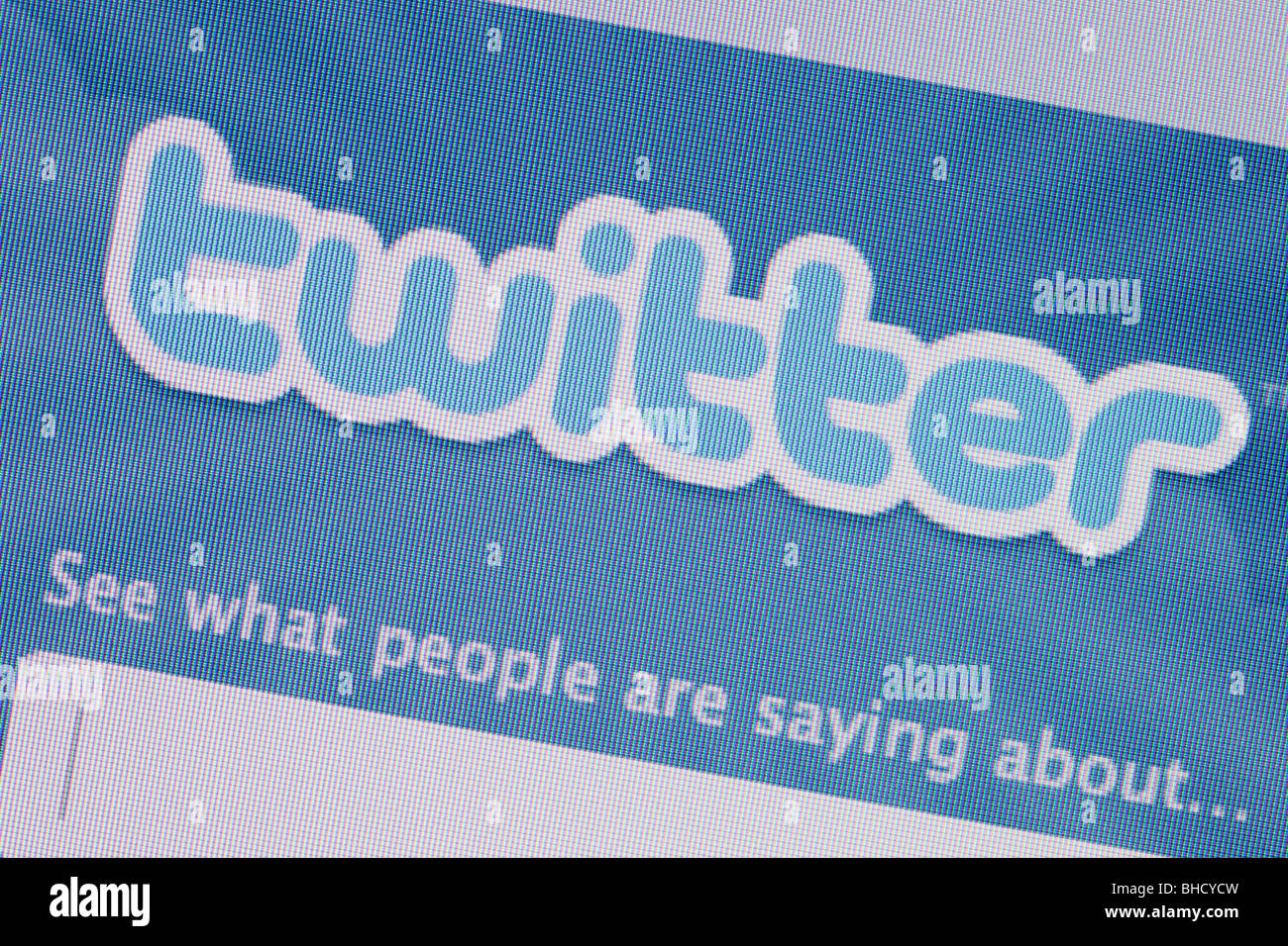 Close-up of a screenshot of Twitter social networking website logo - Stock Image