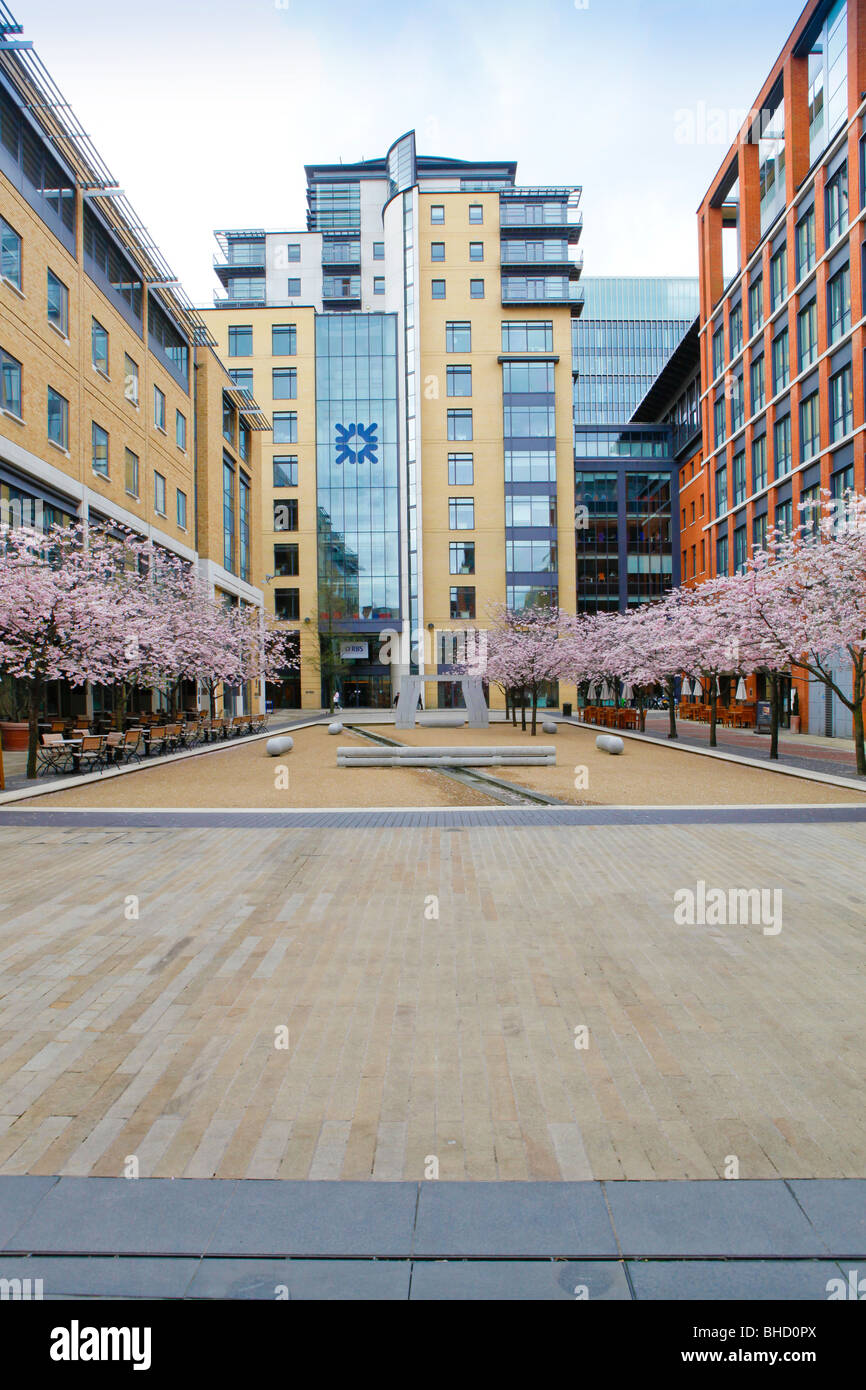 Royal Bank of Scotland building in Brindleyplace, Birmingham, West Midlands, England - Stock Image