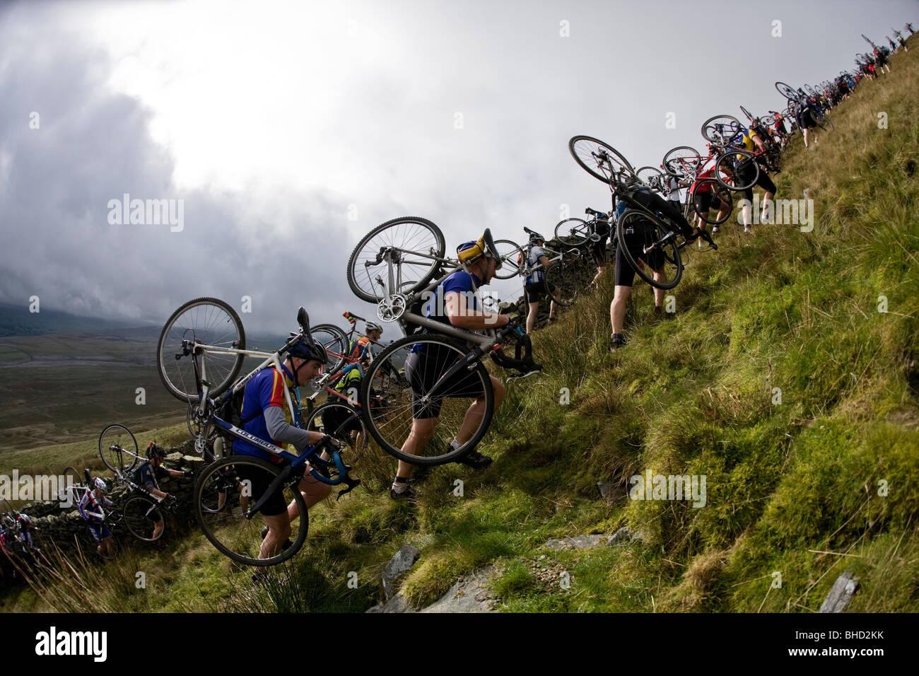 Three Peaks Cyclo Cross Event, Yorkshire. UK - Stock Image