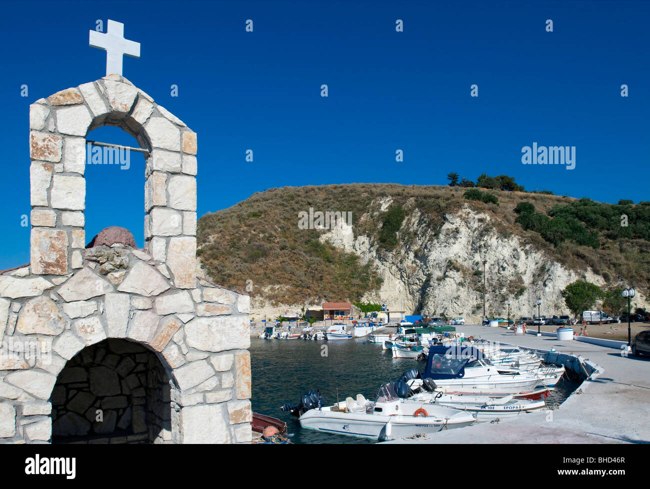Harbour at Kalyves, Crete, Greece - Stock Image