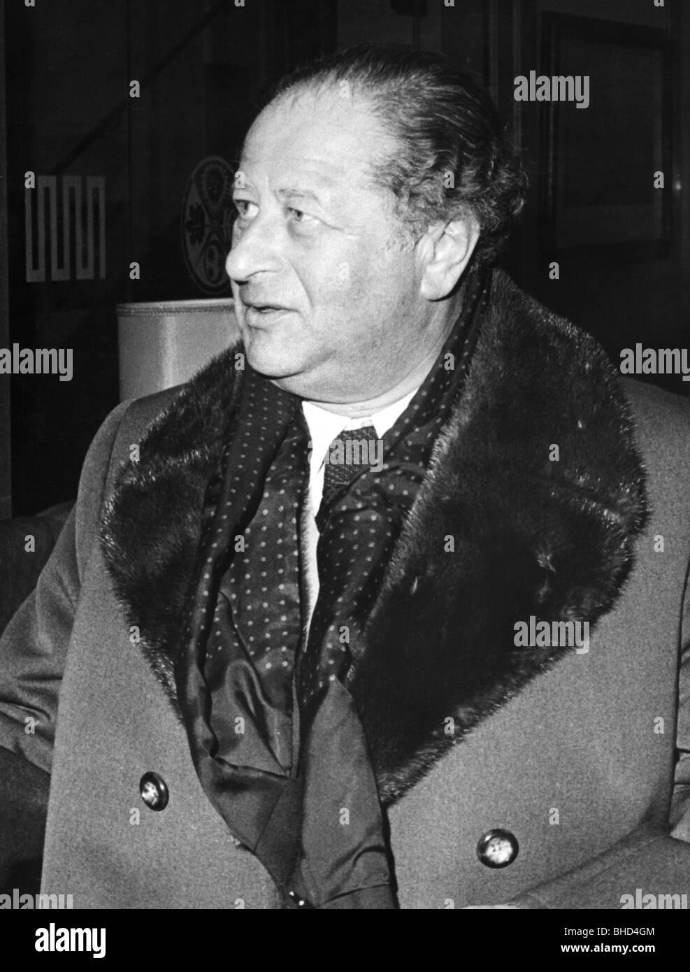 Kreisky, Bruno, 22.1.1911 - 29 7.1990, Austrian politician (Social Democrat), Chancellor of Austria 1970 - 1983, - Stock Image