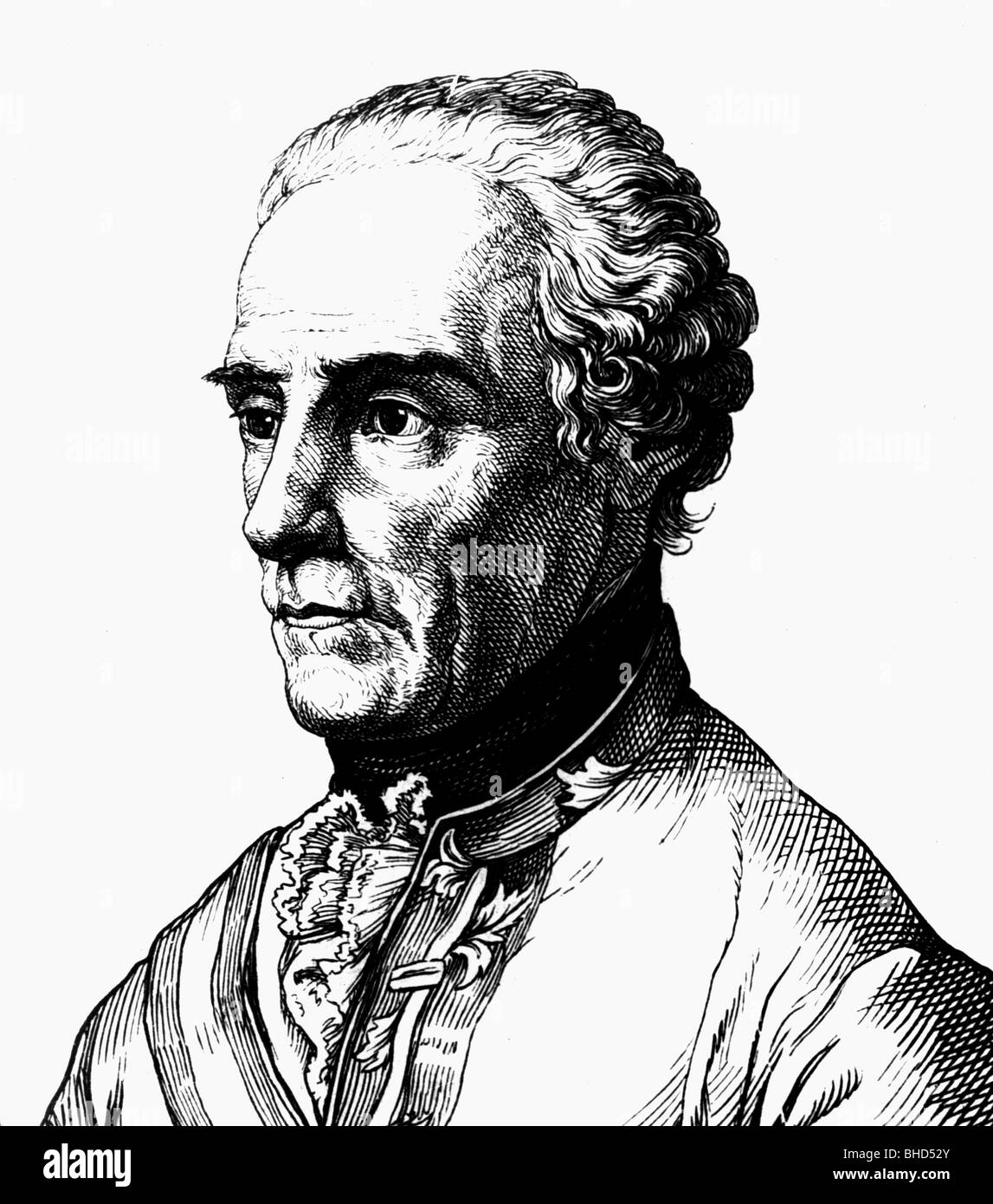 Laudon, Gideon Ernst Baron von, 2.2.1717 - 14.7.1790, Austrian general, portrait, Additional-Rights-Clearances-NA - Stock Image