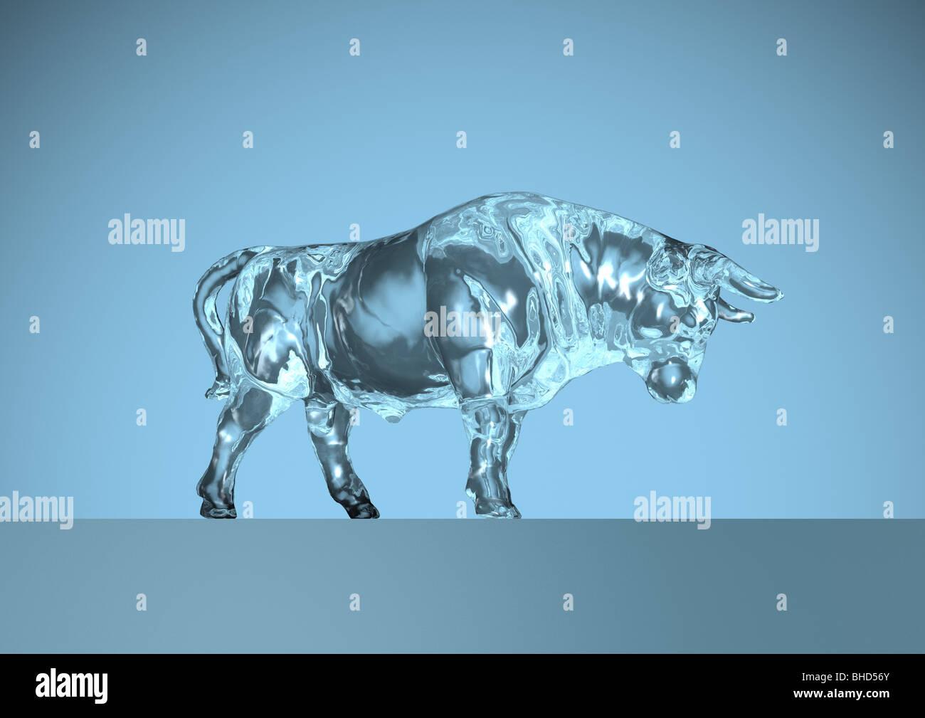 stock exchange, bull, bear - Börse, Bulle, Bär - Stock Image