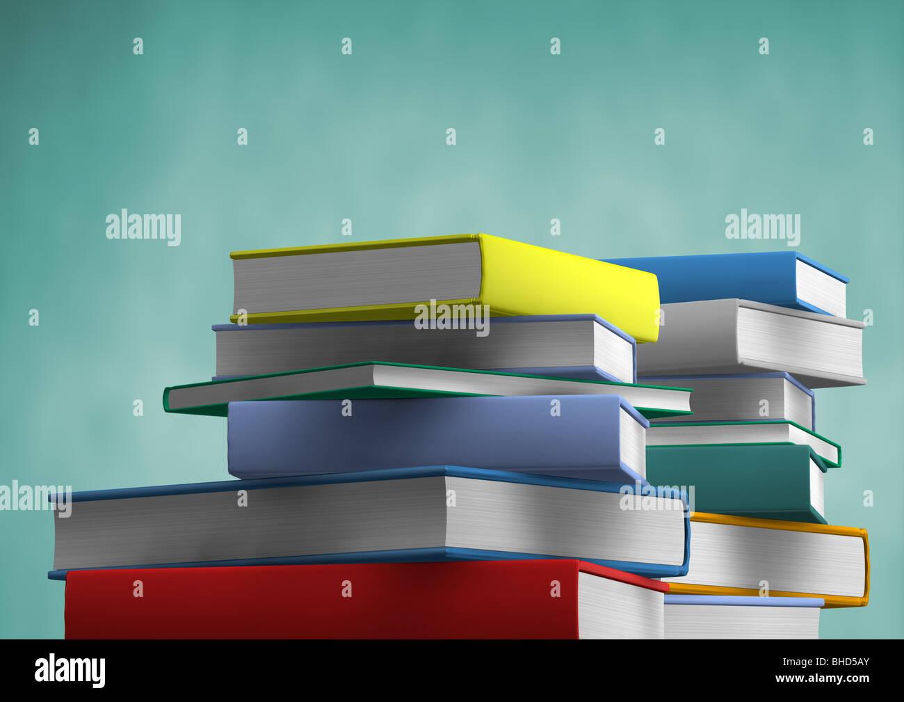 stack of books - Buecherstapel Stock Photo